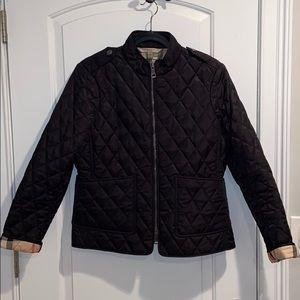 Burberry Britt Quilted Diamond Jacket Large Black